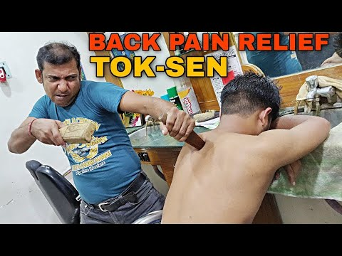 Thailand Special Tok-Sen Massage Therapy By Indian Barber | Body Pain Relief | ASMR