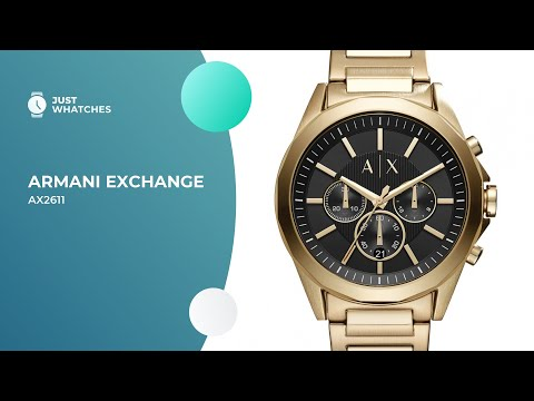 Slick Armani Exchange AX2611 Watches For Men Full Specs, Detailed Review In 360, Prices