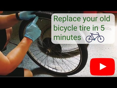 Installing a new bike tire and inner tube in 5 minutes