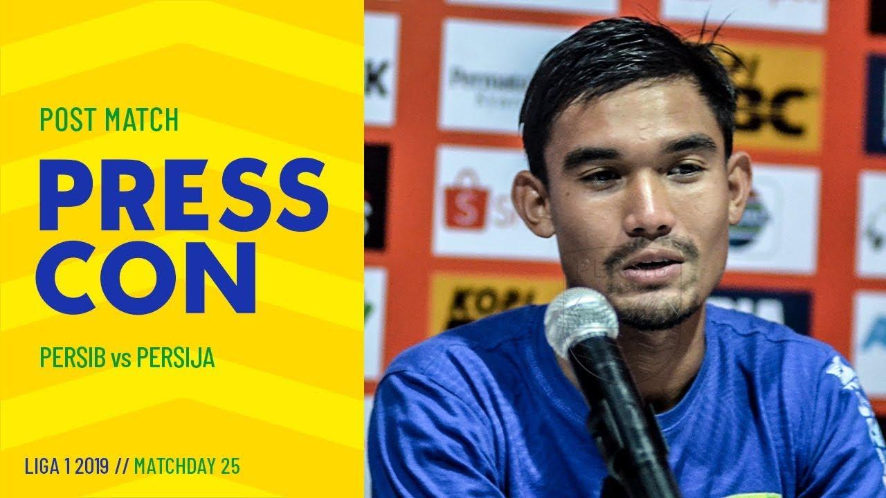 Download Post-Match Press Conference Pekan 25 Liga 1 2019 PERSIB 2-0 Persija