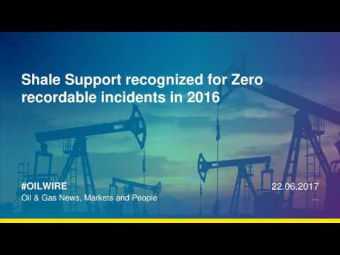 Shale Support recognized for Zero recordable incidents in 2016