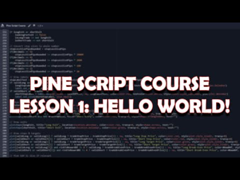 Pine Script Lesson 1 Getting Started Pine Script Tutorials
