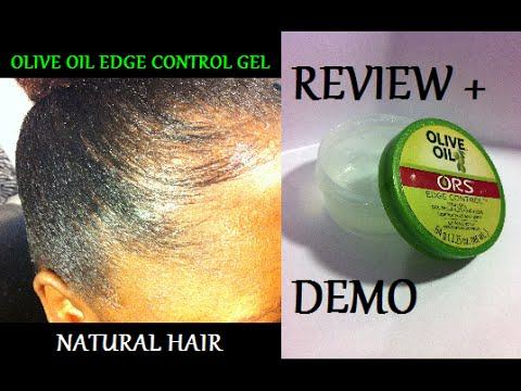 Review + Demo Olive Oil Edge Control Gel (On Natural Hair)