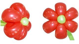 Профессиональный цветок из воздушных шаров