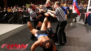 Jack Swagger attempts to break Rusev's ankle: Raw, December 8, 2014