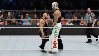 WWE 2K15 Gimmick Switch: Giant Rey Mysterio vs Mini Big Show (PS4)
