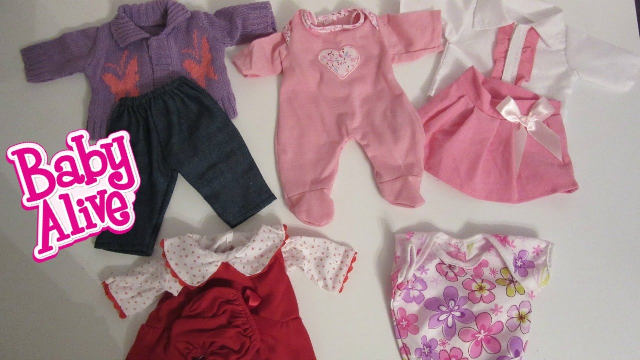 Baby Alive Doll Clothes! Unboxing Playtime Outfits by YOU ...