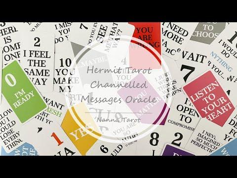 開箱  隱者訊息神諭卡 • Hermit Tarot Channelled Messages Oracle // Nanna Tarot