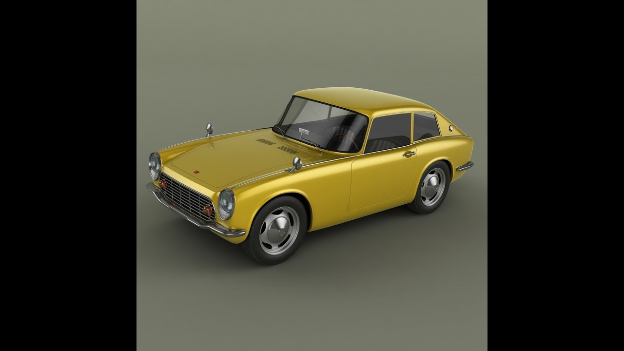 3D Model Honda S600 Coupe At 3DExport.com