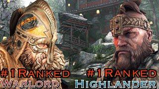 For Honor - Number 1 Ranked Highlander Vs Number 1 Ranked Warlord! Viking King!!