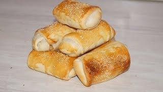 простой рецепт вкусных пирожков с начинкой из грибов,сыра и лука.