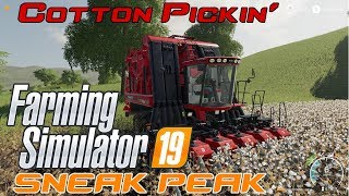Farming Simulator 19   SNEAK PEEK part 5   IN GAME VIDEO   Cotton Harvest!