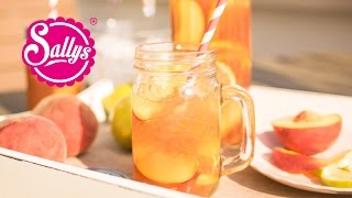 Selbstgemachter DIY Eistee Pfirsich & Zitrone / Ohne Zuckerzusatz / schnell & erfrischend