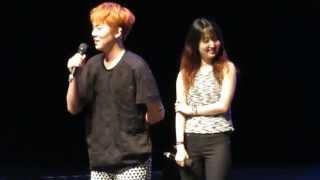 hd fancam 140719 lee hong ki proposal in singapore hongki singing distance