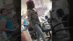 Fight inside of nail salon 2018