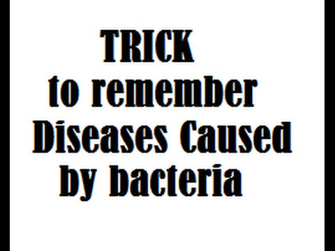 TRICK to remember Diseases Caused by bacteria