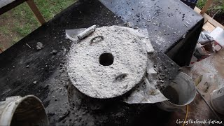 How to make a Large $50 Mini Homemade Metal Foundry Furnace Forge propane charcoal DIY Lid Pt. 2
