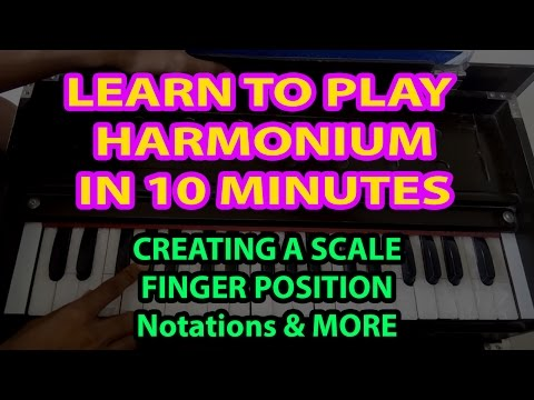 LEARN TO PLAY HARMONIUM JUST IN 10 MINUTES | FINGER EXERCISE | SCALE | NOTATIONS |