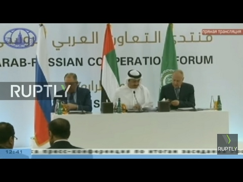 LIVE: Lavrov, Arab League SecGen and UAE FM hold press conference in Abu-Dhabi