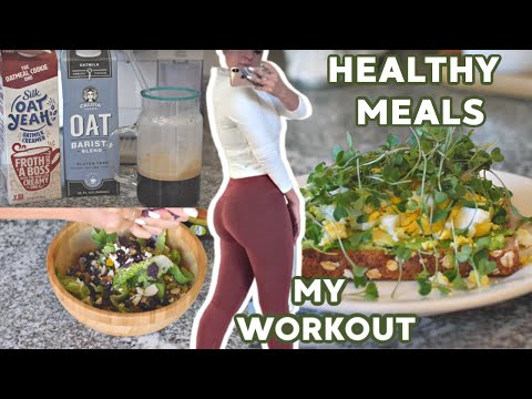 FULL Day of HEALTHY EATING, My Workout, & MOTIVATION thumbnail