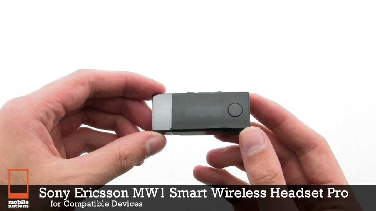 2334a623ced Sony Ericsson MW1 Smart Wireless Headset Pro - YouTube