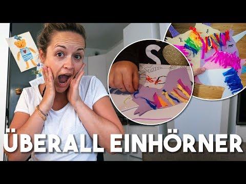 EINHORN BASTELN DIY I XL Vlog I Mama Alltag I  Mellis blog