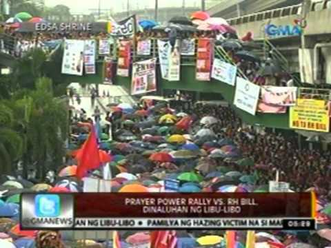 24oras: Prayer power rally vs RH Bill, dinaluhan ng libu-libo