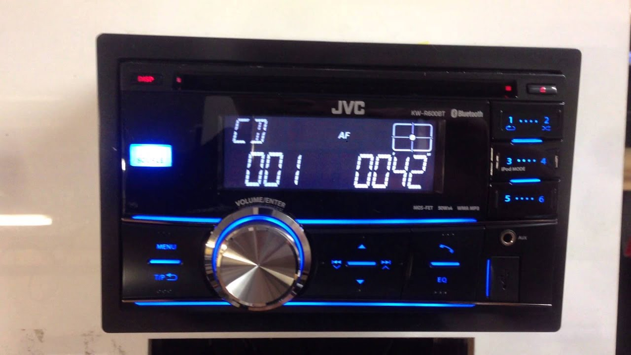 small resolution of jvc kd r600bt bluetooth double din stereo youtube stereo wire colors jvc kd r600 car stereo wiring harness
