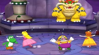 Mario Party 5 All Lucky 4 Player - Yoshi Peach Wario Daisy All Funny Mini Games (Master CPU)