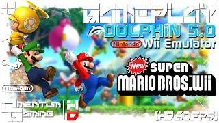 New Super Mario Bros. Wii - Dolphin 5.0 | Wii Emulator Gameplay | HD.1080p 60ᶠᵖˢ