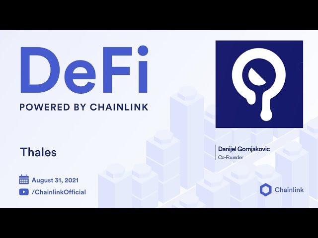 Thales on Chainlink Live: DeFi Binary Options on Ethereum
