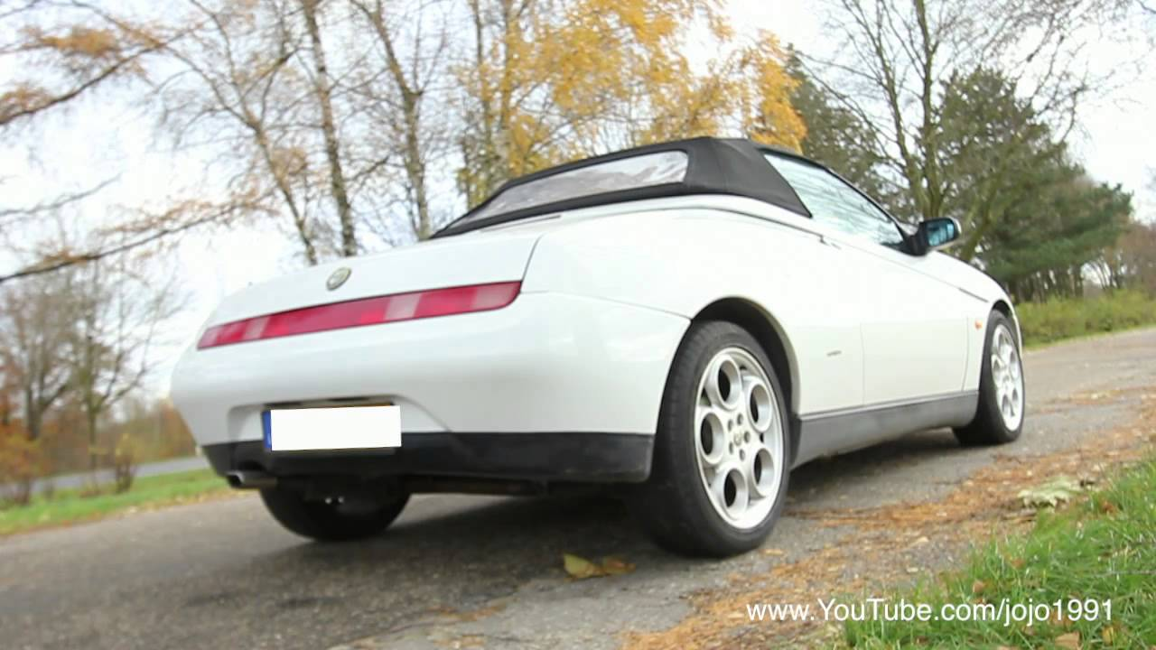 alfa romeo gtv spider 3 0 v6 12v original exhaust sound youtube. Black Bedroom Furniture Sets. Home Design Ideas
