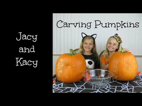 Halloween Pumpkin Carving  ~ 2014 ~ Jacy and Kacy