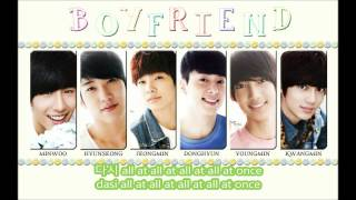 boyfriend-on and on lyrics (hangul and rom)