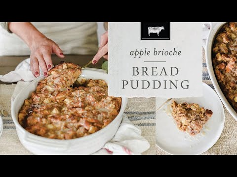 Brioche Apple Bread Pudding