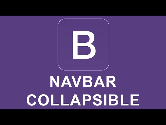 Bootstrap 4 Tutorial 39 - Navbar Collapsible Content