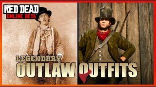 Legendary Outlaw Outfits - Red Dead Online (Billy the Kid, Wild Bill, Jesse James, John W. Hardin)