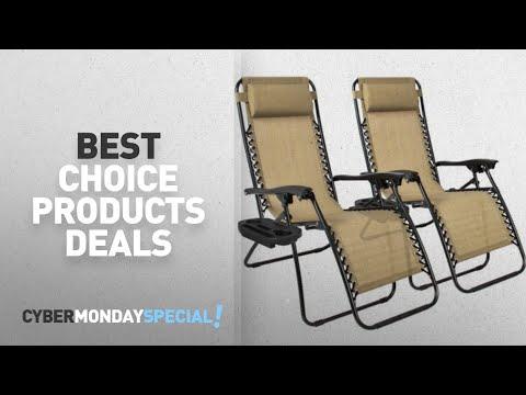 Walmart Top Cyber Monday Best Choice Products Patio & Garden Deals: Zero Gravity Chairs Case Of (2)