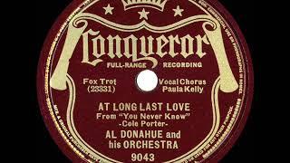 1938 Al Donahue - At Long Last Love (Paula Kelly, vocal)