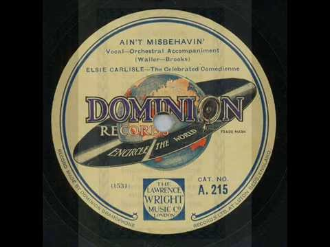 Elsie Carlisle, Ain't Misbehavin' , Honey