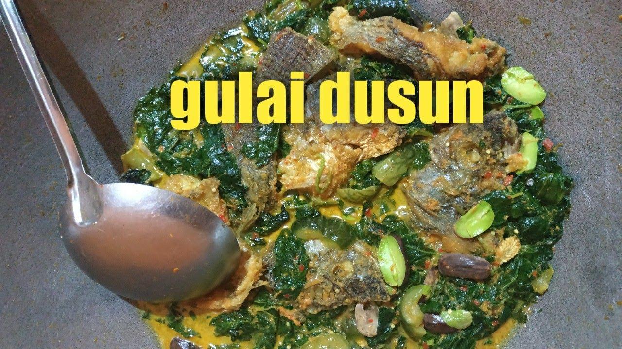 Masak Gulai Kambas Masakan Dusun Youtube