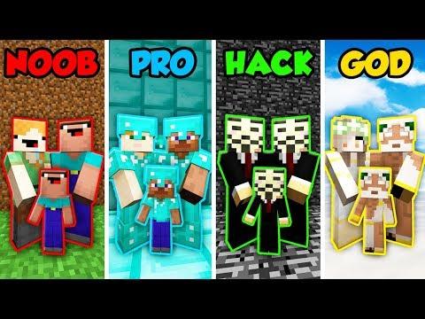 Minecraft NOOB vs. PRO vs. HACKER vs GOD: FAMILY LIFE in Minecraft! (Animation)