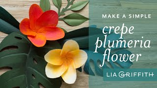 How To Make A Paper Tropical Flower - Plumeria