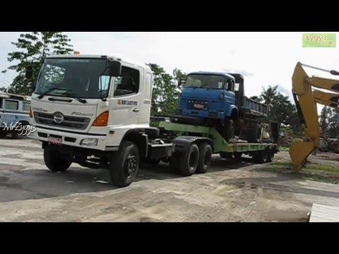 Hino FM320TI and Tadano Crane Moving Lifting Unloading Saviem  Truck