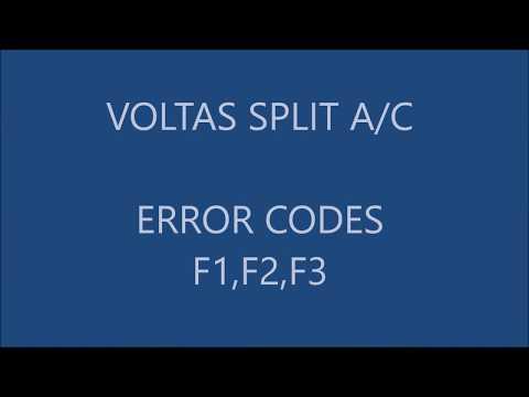 voltas f1,f2,f3 error code