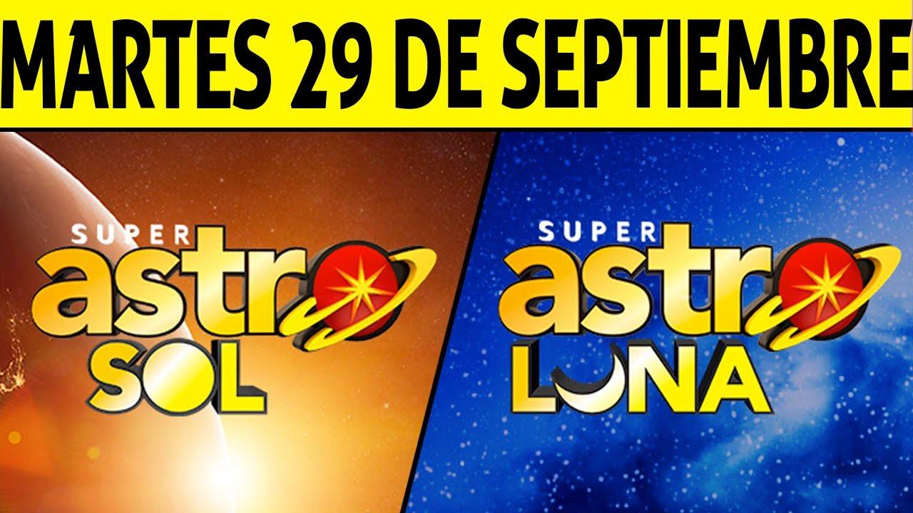 Resultado de ASTRO SOL y ASTRO LUNA del Martes 29 de Septiembre de 2020 | SUPER ASTRO 😱💰🚨