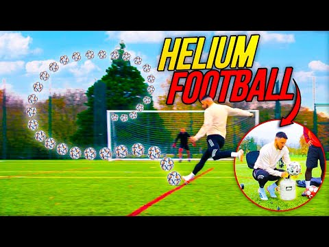 INSANE HELIUM FOOTBALL CHALLENGE!  ⚽️💨🎈 *FOOTBALL EXPERIMENT* Thumbnail