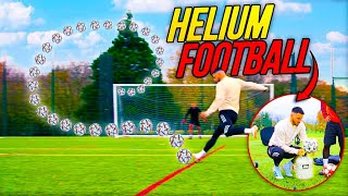 INSANE HELIUM FOOTBALL CHALLENGE!  ⚽️💨🎈 *FOOTBALL EXPERIMENT*