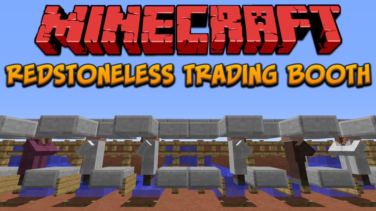 Minecraft: Redstoneless Villager Trading Booth - YouTube