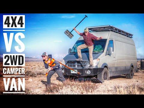 4x4 Camper Van vs 2WD Camper Van for Off Road Van Life | Adventure in a Backpack